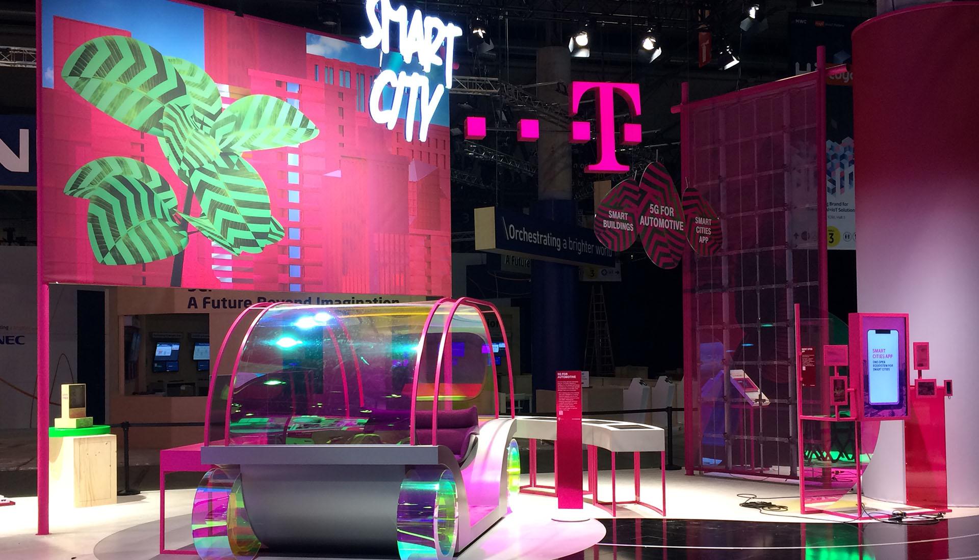 Telekom Messestand in Barcelona | Messebau von Maedebach aus Braunschweig