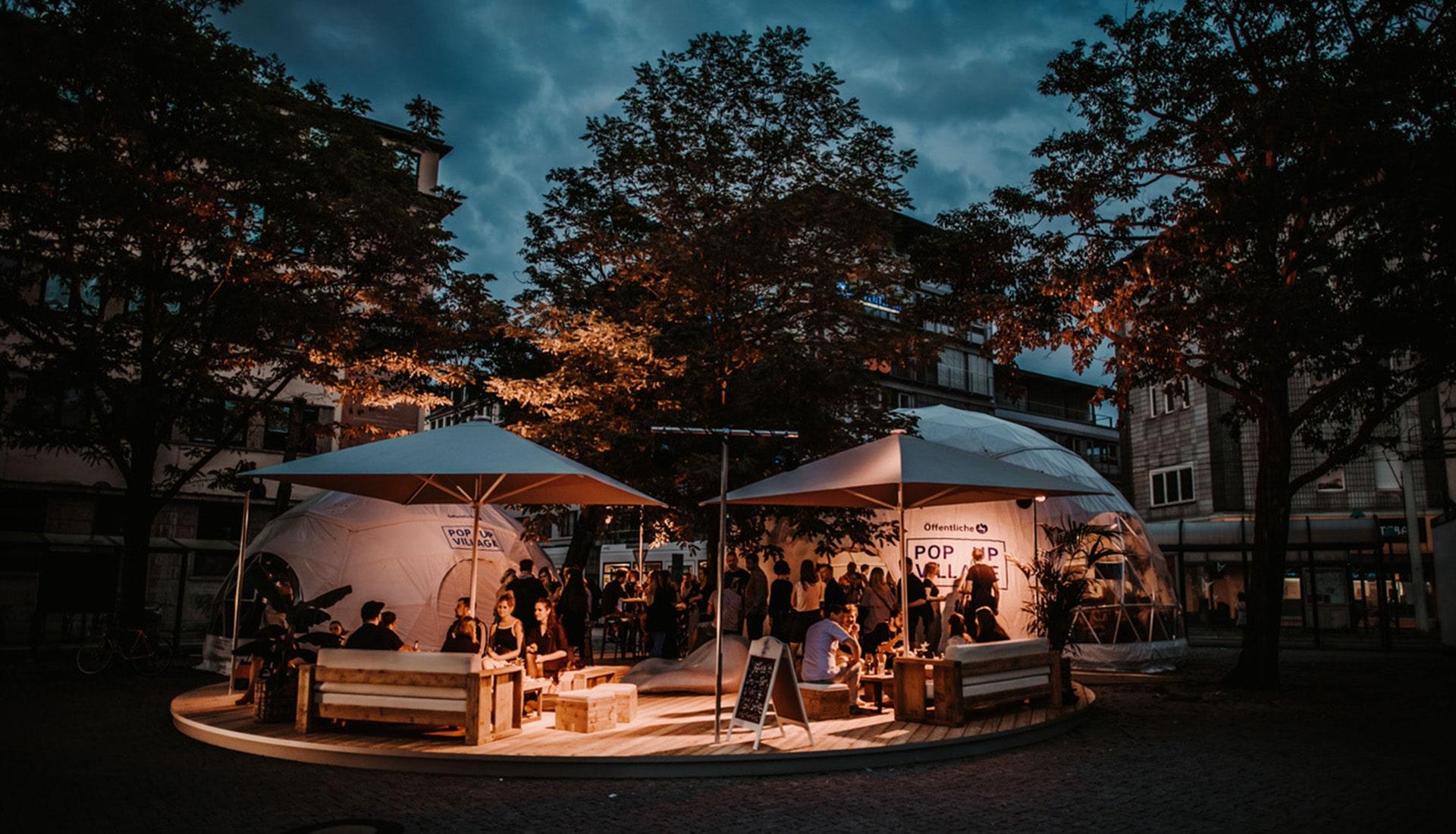 Eventplanung Pop Up Village   Eventbau   Maedebach Braunschweig  