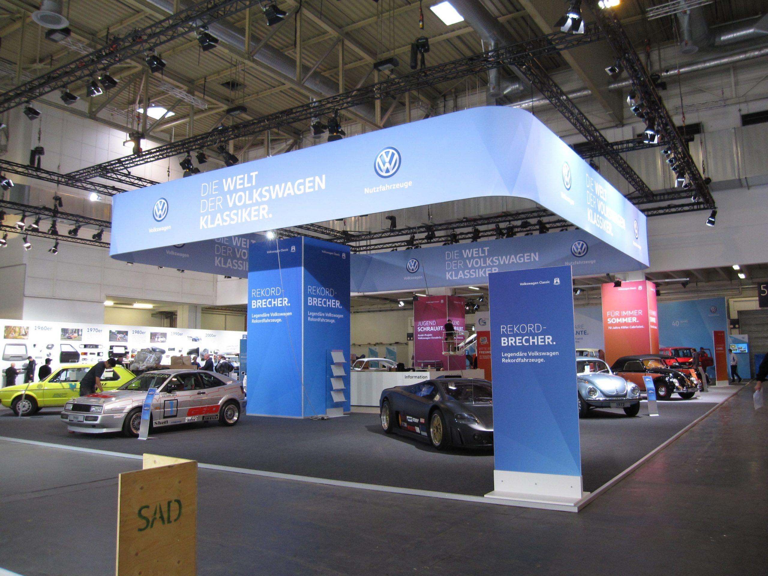 VW Techno Classica | Beispiel Standbau | Messebau | Maedebach aus Braunschweig